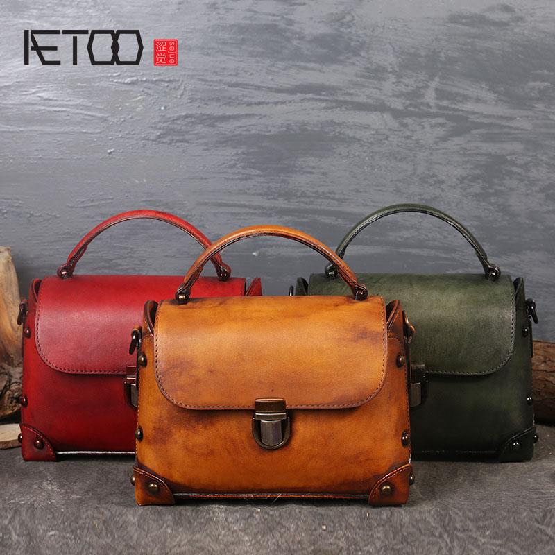 Здесь продается  AETOO Original new first layer of leather handbags wipe leather versatile women