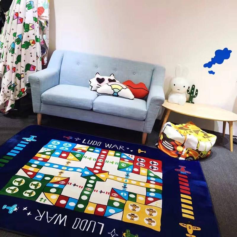 195*145 cm grand tapis de jeu bébé tapis de jeu jeu d'échecs volants flanelle tapis de jeu pour enfants tapis de sol décor de chambre d'enfants cadeaux de nouveauté