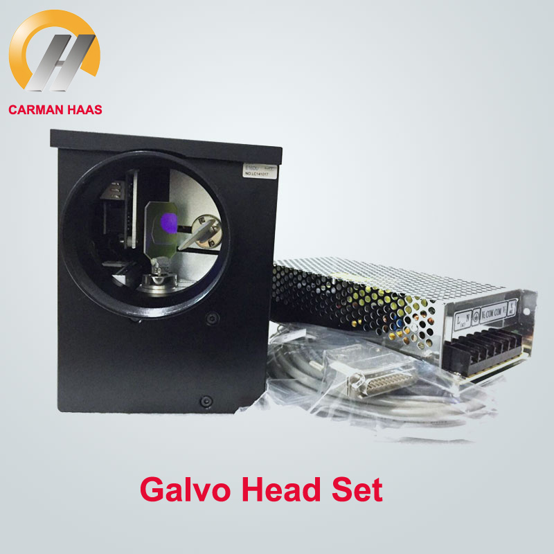 High Quality 1064nm Economic Fiber Laser Scanning Galvo Head 16mm Input + Power Supply Switch Cable Sets For Fiber Laser Marking 1064 fiber laser engraving machine galvo scanning scanner