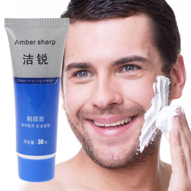 1 adet tıraş kremi erkekler için tüm cilt için uygun tıraş köpüğü manuel yumuşatmak sakal sürtünmeyi azaltın tıraş kremi deiyonize su
