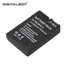 1 pcs en-el14 en el14 enel14 li-ion recarregável bateria da câmera para nikon coolpix p7000 d3100 d5100 d5200 p7700 p7100 d3200 z1