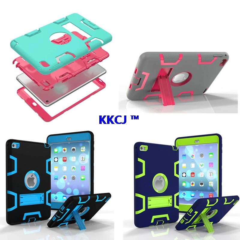 WES HEAVY DUTY Case For iPad Mini 4 7.9 Tablet Case Hybrid Armor Kick-Stand Rugged Protective Cover For Apple iPad Mini4