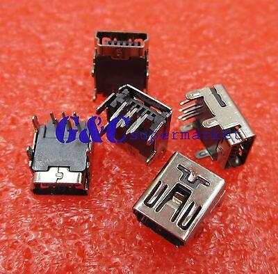 20PCS Mini USB Type B Female Socket 5 Pin Right Angle DIP Jack Contor