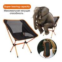 Portable Folding Fishing Chair Camping Chair Seat 600D Oxford Cloth Aluminium Fishing Chair for Outdoor Picnic BBQ Beach Chair