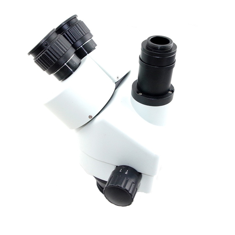 Ship from Russian Spain 7X-45X Trinocular Stereo Zoom Big table stand Microscope with 0.5X 2.0X Auxiliary Objective Lens lights
