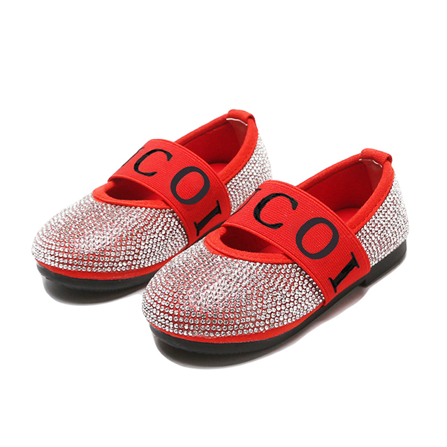 Kids Girls Shoes New Princess Children Sandals Wedding Shoes Rhinestones Toddler  Girl Shoes Glitter Dress Sneakers Casual Flat cef320a6a690