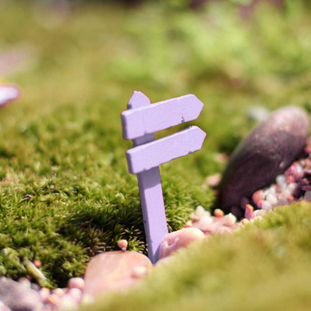 10 шт./лот деревянный забор вывеска миниатюрный сказочный сад дома украшение для дома Craft Micro Ландшафтный Декор DIY интимные аксессуары