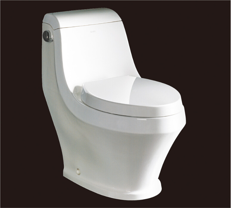 2016 new style water closet one piece S-trap ceramic toilets with PVC adaptor PP soft close seat cover AST133 UPC cerificate