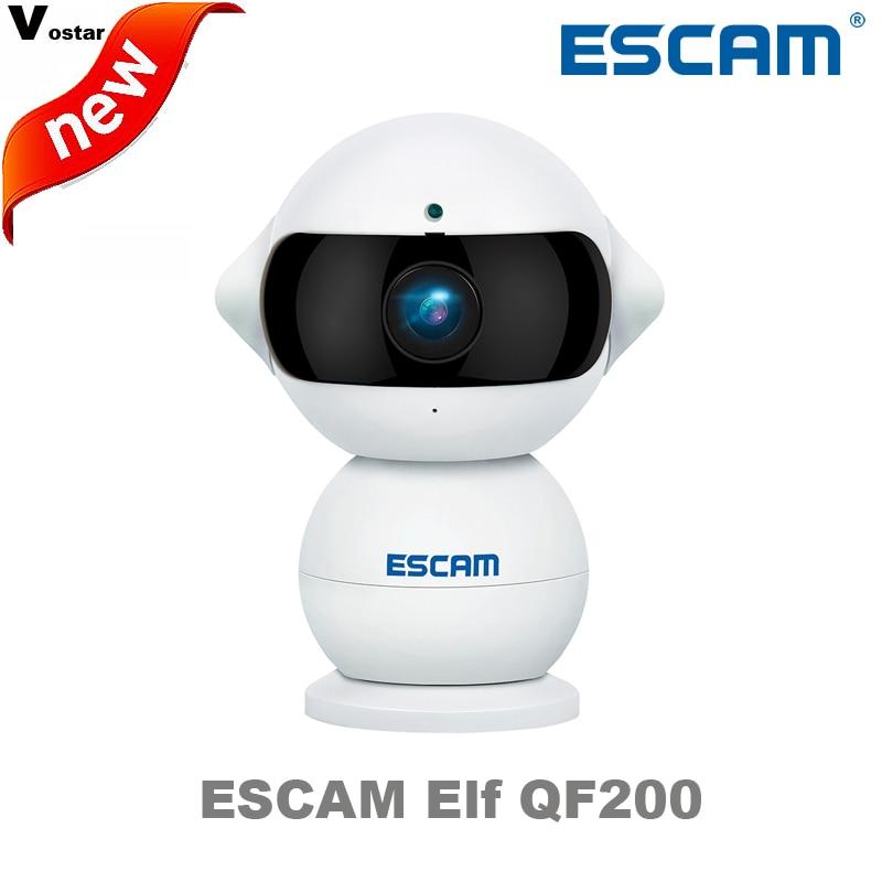 Escam Elf QF200 Wifi Mini IP Camera 1.3MP HD 960P Onvif P2P indoor Surveillance Night Vision Security CCTV Camera+32GB TF Card hireno headlamp for 2012 2014 ford ecosport headlight assembly led drl angel lens double beam hid xenon 2pcs