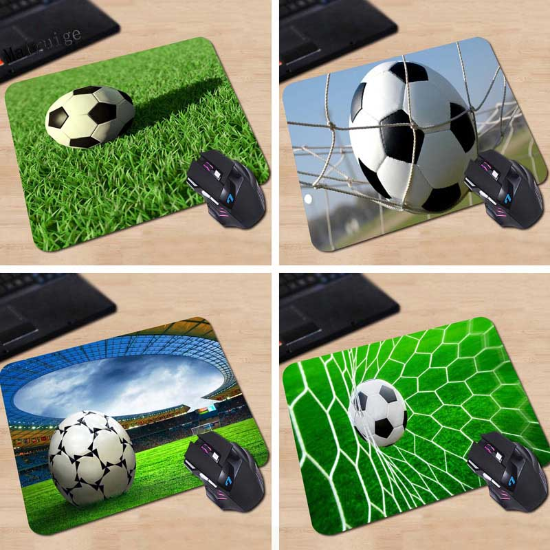 Mairuige Football 1pcs Rectangle Game 180X220X2MM 250X290X2MM Computer Gaming  Mouse Pad No Overlock Edge Mat Table Desk Mat