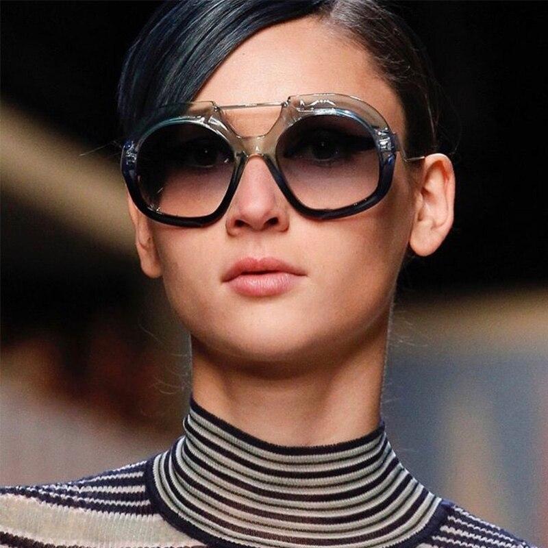 f06cb3e8bb879 Winla Design de Moda óculos de Sol Das Mulheres Quadro Especial Twin Vigas  do Sexo Feminino Óculos de Sol Lente Gradiente Elegante Eyewear UV400  WL1171 em ...