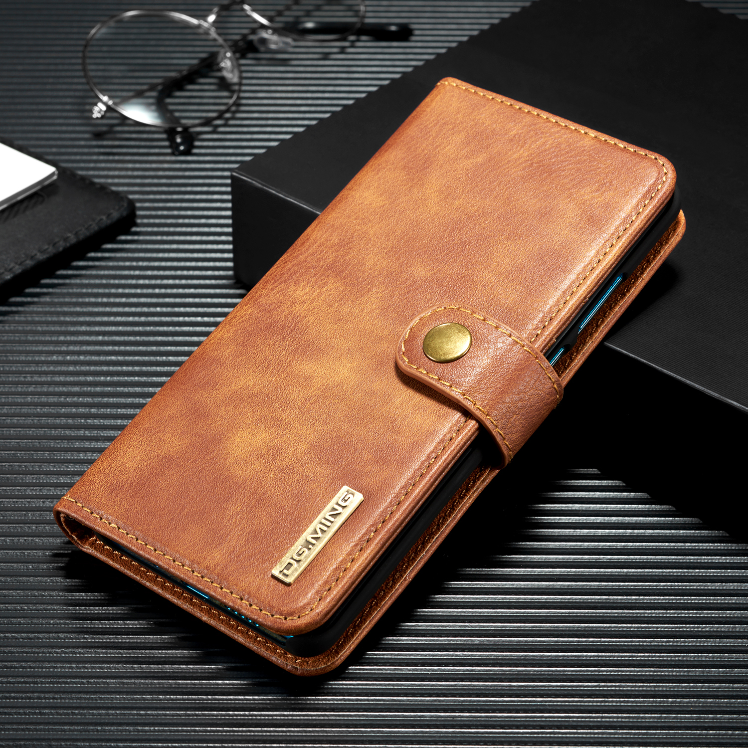 For iPhone X XR XS Max 8 7 6 5 SE Vintage PU Retro Luxury Leather Book Stand Wallet Detachable Magnetic 2 in 1 Card Case Cover