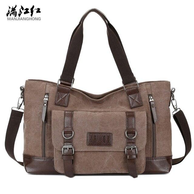 37157e0254dc New Arrival Fashion Big Capacity Man s Travel Bag Cotton Canvas Shoulder Bag  Portable Commercial Men Handbag