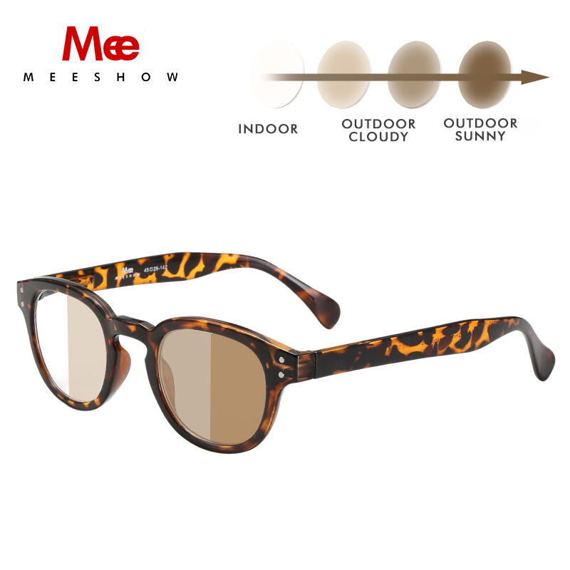 MEESHOW prescription Glasses Blue Light Blocking women sunglasses photochromic glasses men retro myopia reading