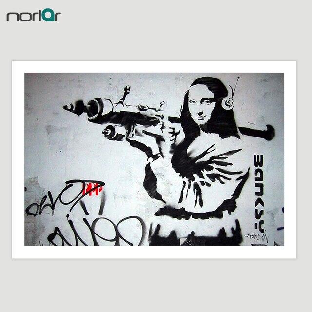Impresión HD Bansky Street Art Graffiti Mona Lisa con lanzamiento de ...