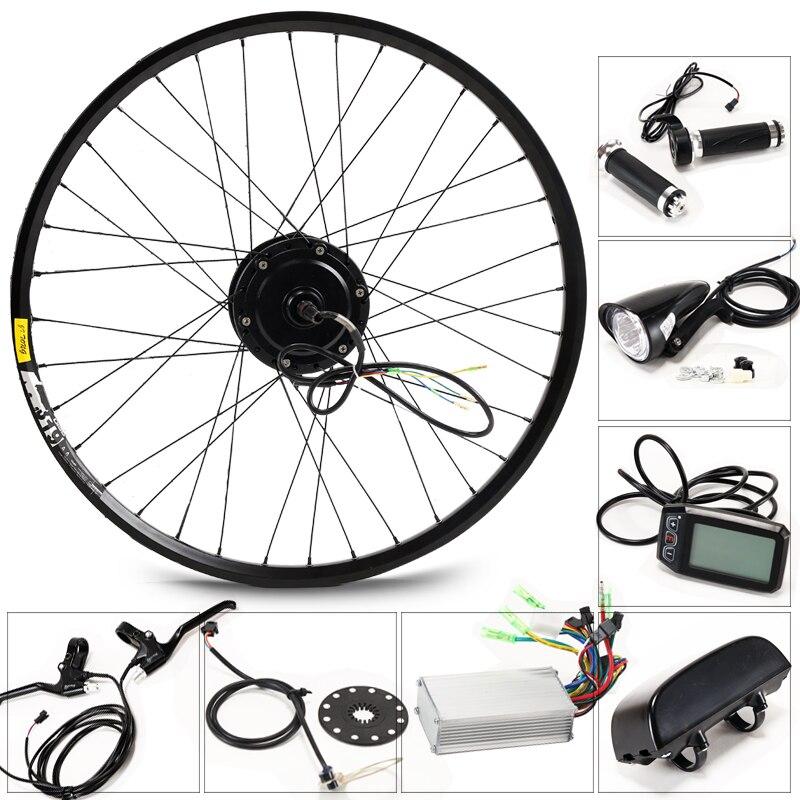 350 W Kit Bicicleta Elétrica para 27.5 '28 '29' Roda Chaleira Bateria LED LCD Ebike Do Motor e moto Elétrica conversão bicicleta g001