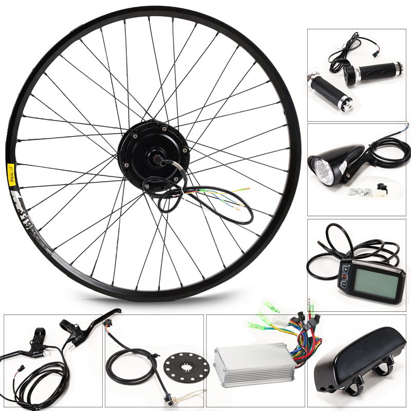 CASDONA 350W Kit Bicicleta Elétrica para 27.5 '28 '29' Roda Chaleira Bateria LED LCD Ebike Do Motor e moto conversão Bicicleta elétrica g001