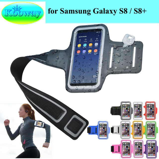 reputable site 0412a 94bed US $3.99 |G9500n G950F G955N G955F Phone Bags for Samsung Galaxy S8 S8+  MSM8998 Waterproof Cases Sport Arm Band Run Riding Support Case-in Phone  Pouch ...
