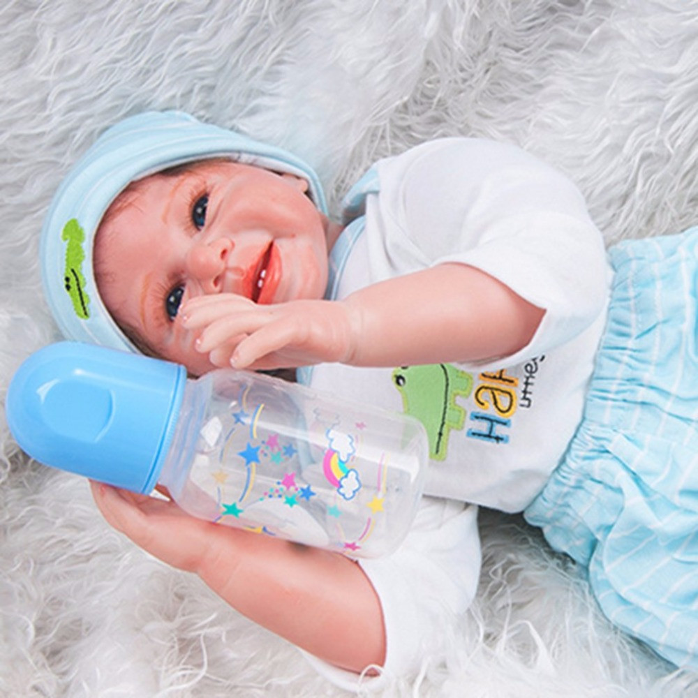 55CM Baby Born Doll Reborn Baby Dolls Soft Silicone Lifelike Sound Laugh Newborn Baby Toys for Children Boys Girls Birthday Gift 55cm doll reborn babies full soft silicon lifelike newborn baby dolls baby reborn simulation toys gift for children partner