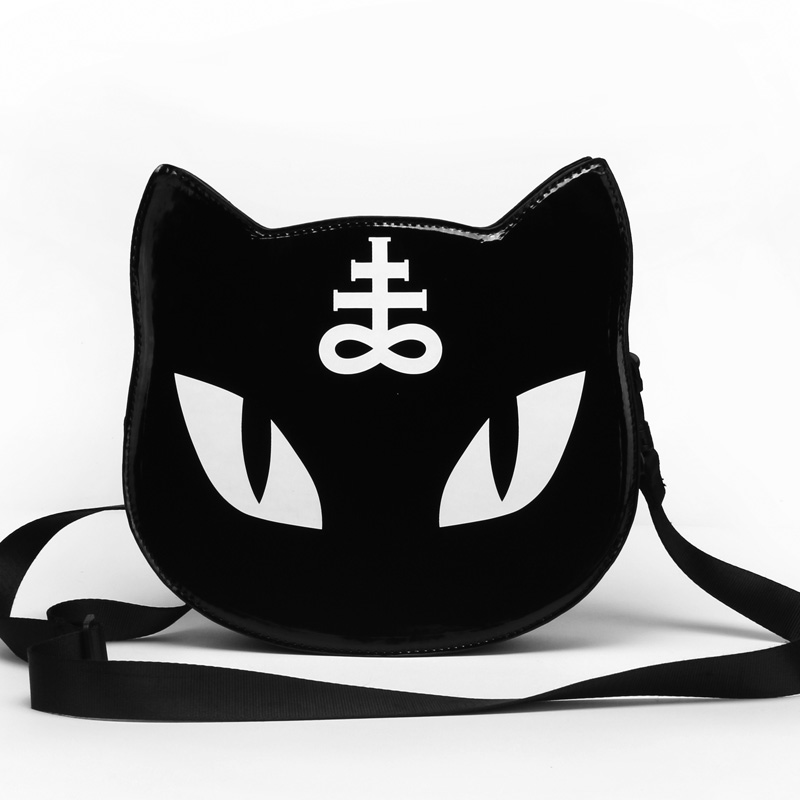 2017 Women Retro Mini Crossbody Harajuku Wind Cat Messenger Bag Gothic alphabet Shoulder Bag