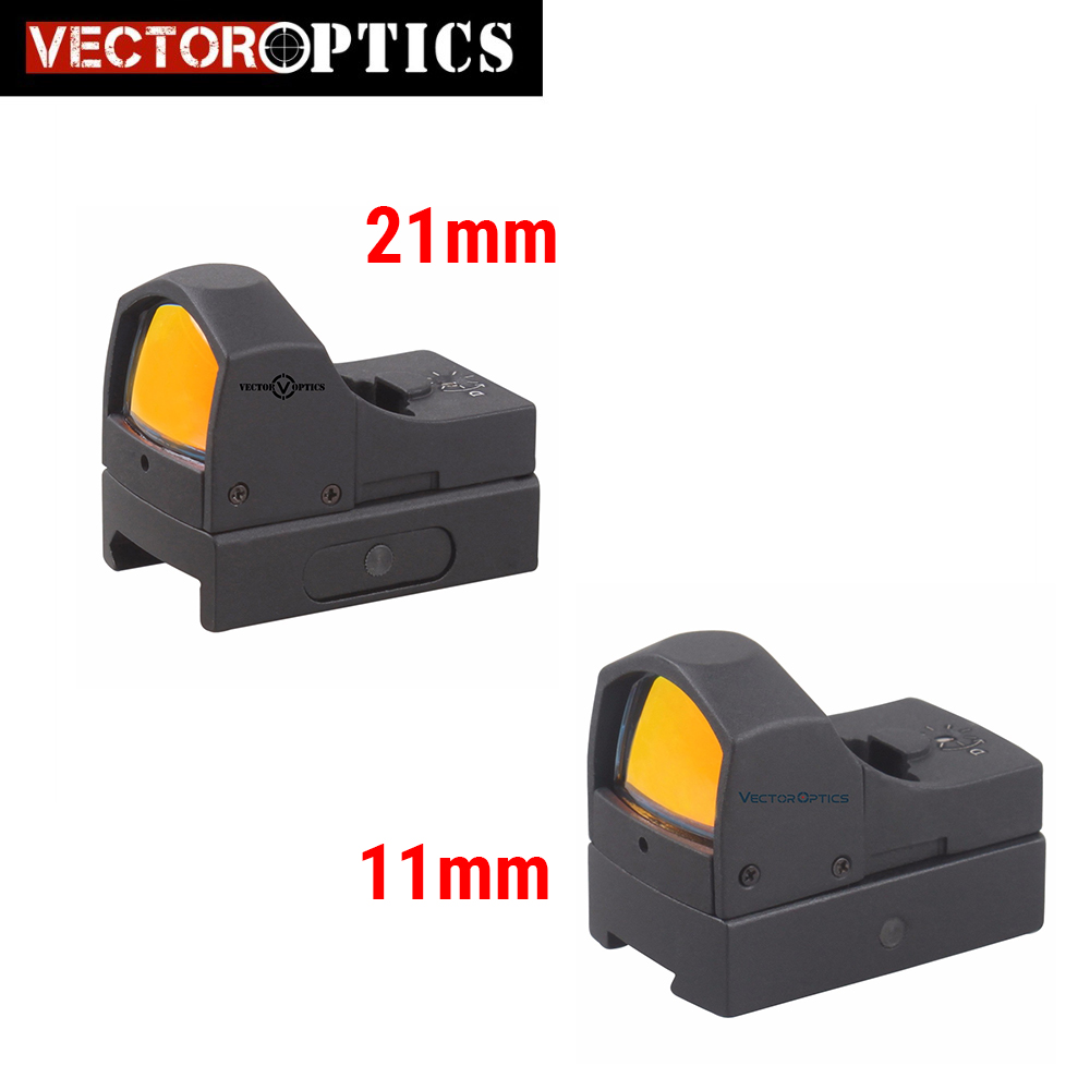 Vector Optics Micro Reflex Hunting Red Dot Scope With 3 MOA Dot Mini Weapon Gun Sight Fit 21mm Weaver Or 11mm Dovetail Rail