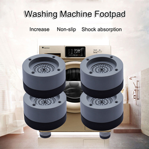 Image 2 - 4 Pcs Washing Machine Anti Shock Pad Refrigerator Large Appliances Furniture Mute Rubber Mat Anti Vibration Pads Protect Floor