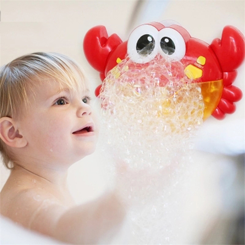 Bubble Crabs Baby Bath Toy Funny Bath Music Bubble Maker Pool Swimming Bathtub Soap Machine Toys For Children Kids Bubble Maker