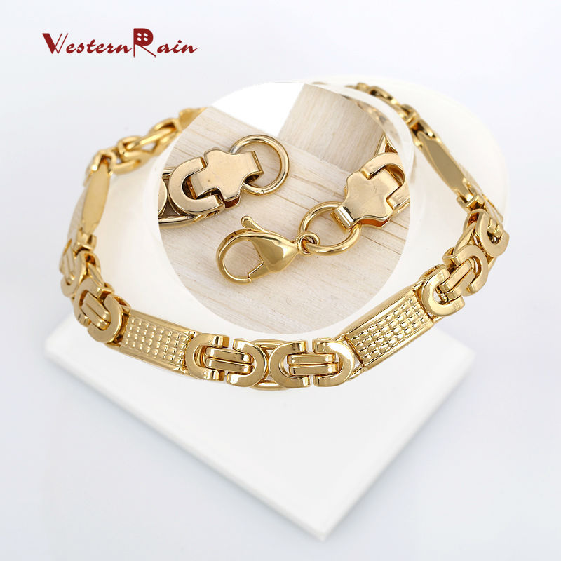 Gold Color Stainless Steel Necklace Boys Mens Chain High Quality ...