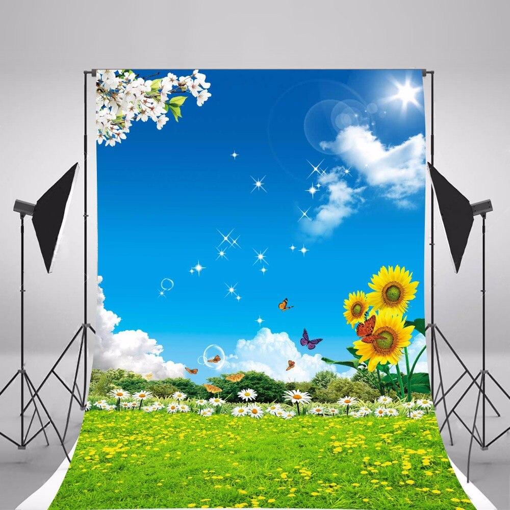 Фото Hot Children Photographic Backgrounds Spring Scenic Photo Backdrops Vinyl Backgrounds For Photo Studio Baby Fundo Fotografia