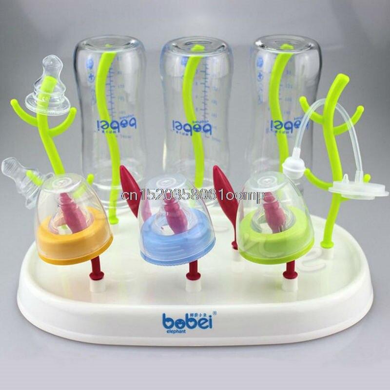 Детские сушилка для бутылок стойки Новый Clean drying безопасный полка Кормление держатель
