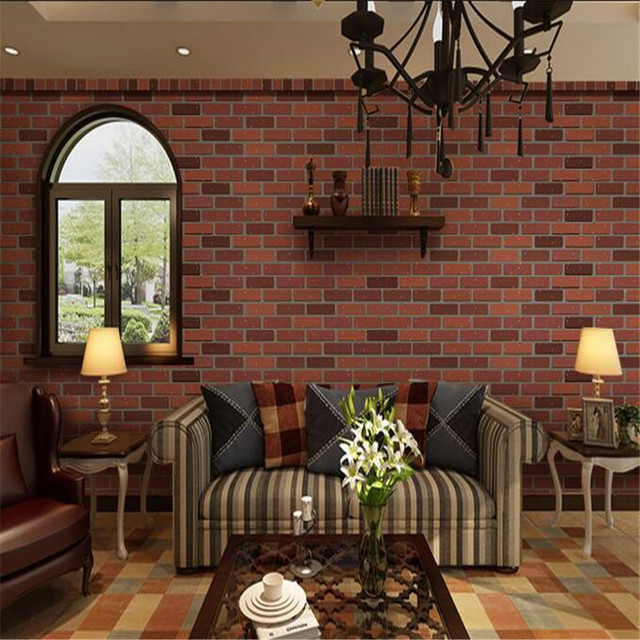 American Vintage Wallpapers Brick Stone Wall Murals for Walls 3D