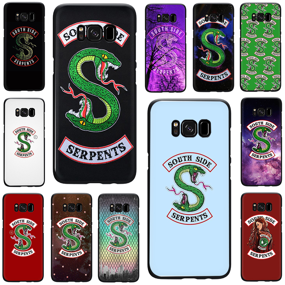 <font><b>Riverdale</b></font> South Side Serpents Silikon telefon fall für <font><b>Galaxy</b></font> S6 S7 Rand <font><b>S8</b></font> S9 S10 Plus S10e Hinweis 8 9 j6 A6 Plus A8 A9 2018 image