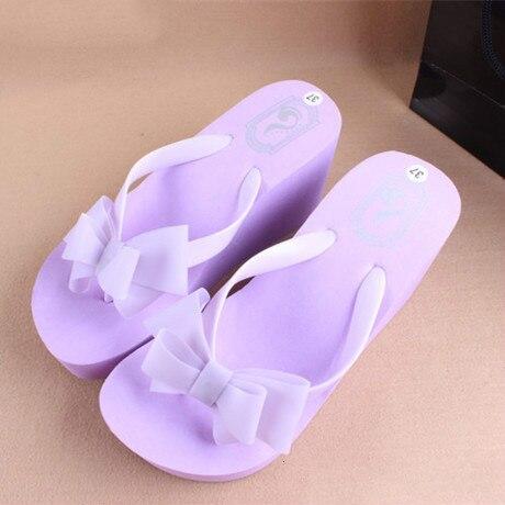 2017 New Sandal Woman Flip Flops,Ladies' Elegant Flat Sandals Wedges Platform Sandals Beach Slippers Black White Blue