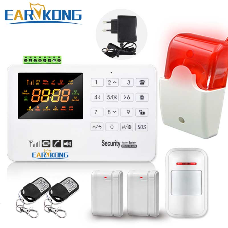 Hot Selling Free Shipping  wholesale Wireless  GSM Alarm System 433MHz Home Burglar Security Alarm System Touch Keyboard free shipping hot selling 433mhz wireless water detector for home burglar alarm system