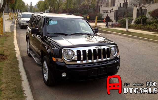 For Jeep Patriot 2011 2012 2013 2014 2015 ABS Chrome Front Center Grille  Grill Frame Cover