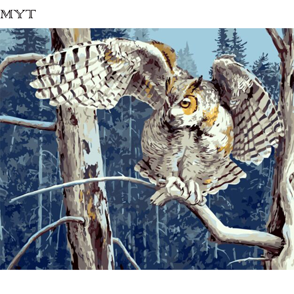 MYT Free Shipping Hot Sale Digital Pictures Painting By Numbers DIY Digital Oil Painting On Canvas Unique Gifts Home Decor