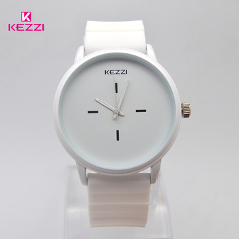 Kezzi Brand Black White Silicone Watches Student Women Men Sport Quartz Watch Couple Ultra Slim Casual Watch Relojer Feminino 1