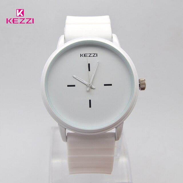 Kezzi Brand Black White Silicone Watches Student Women Men Sport Quartz Watch Couple Ultra Slim Casual Watch Relojer Feminino 1