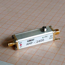 Free shipping AMP-2400 2.4G low noise antenna amplifier, LNA, 2400MHz RF amplifier ads b 1090mhz 6db sma pcb antenna inside the antenna integrates a low noise amplifier and filter with rf bias tee for sdr