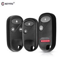 KEYYOU 2/3/3 + 1 botón carcasa de la llave a distancia del coche Fob para Honda CRV acuerdo Jazz 2003, 2004, 2005, 2006, 2007, 2008, 2009, 2010, 2011