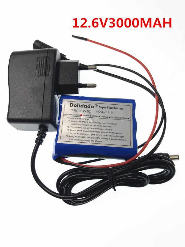 12 V 3000 mAh 3 S 18650 литий-ионная аккумуляторная батарея для камеры видеонаблюдения + 12,6 V 1A зарядное устройство
