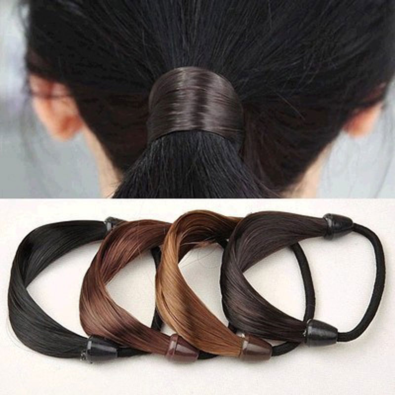1Pcs Korean Wig Hair Ponytail Holders Plaits Hair Circle Manual Twist Rubber Band Headbands Hairbands Girls Hair Accessories perruque peruca hair queen the show female wig wig ponytail pear wavy long hair curls naturally lifelike fake ponytail