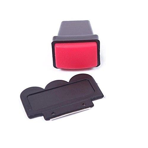 Pro Rectangle Stamper Scraper Sets Nail Art Stamp Plates Image Template Transfer DIY Polish Tools Nail Decorations Kits Red