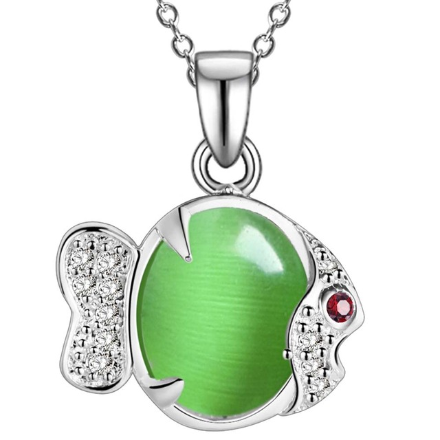 3 colors!1pc Free Shipping 925 Sterling Silver Jewelry Pendant Fine Fashion Cute Silver Plated fish Necklace Pendants AN1661