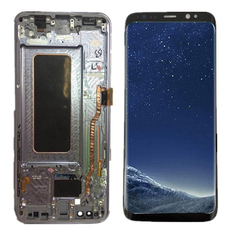 100% Pièces De Rechange Pour Samsung Galaxy S8 de Travail Plus G955 G955FLCD Affichage + Écran Tactile avec cadre Digitizer Assemblée + outils