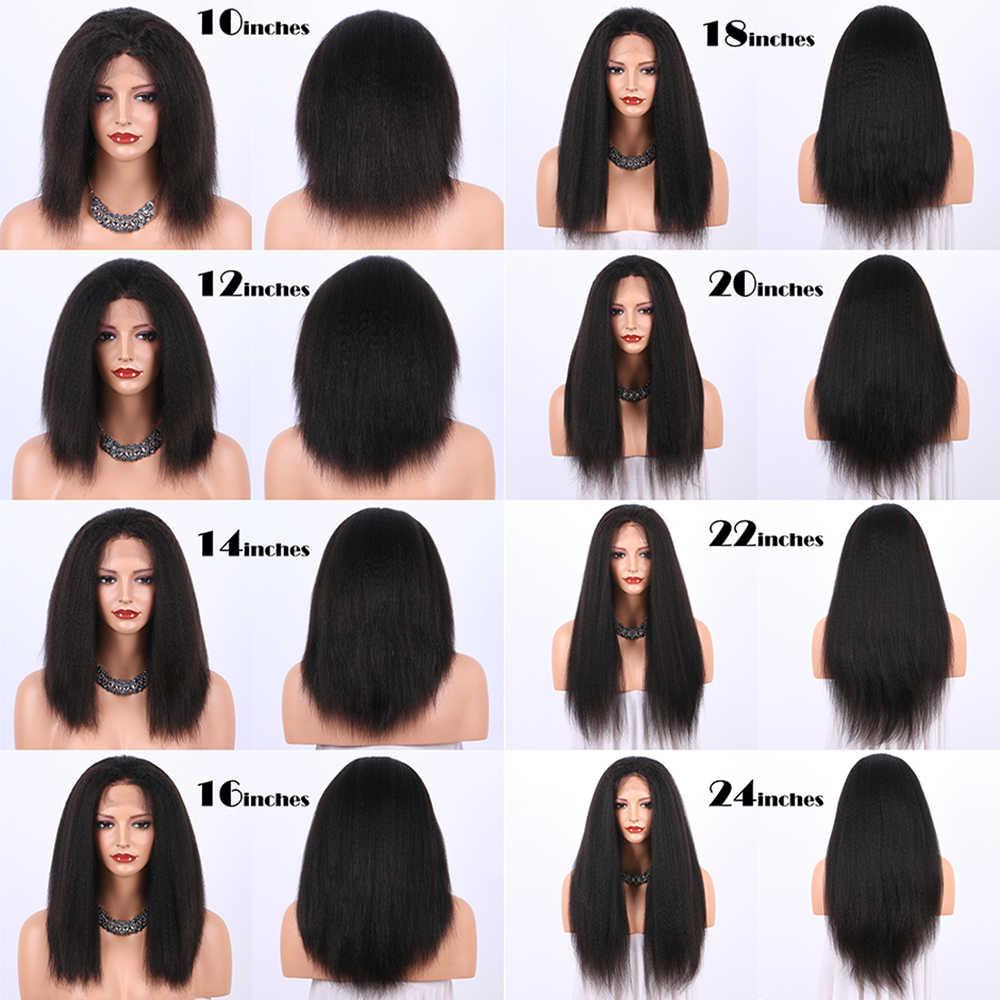 ... Kinky Straight 360 Lace Frontal Wigs For Women Italian Yaki Lace Front  Human Hair Wigs Brazilian ... f5c2400e63