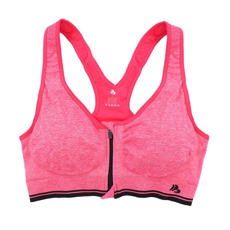B.BANG Women's Bras Zipper Front Push Up Bra Shakeproof Intimate Crop Top Seamless Underwear Free Shipping 22