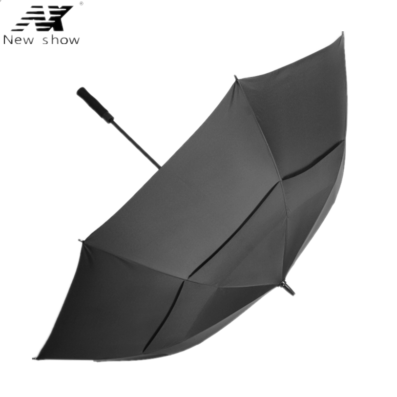 NX Golf payung, Double-layer menangani panjang payung, Semi-otomatis diameter 110 cm serat kaca tahan angin pria dan wanita bisnis