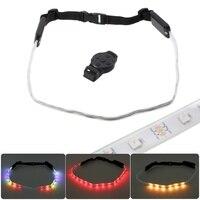 LED Waist Belt Rechargeable Bicycle LED Warning Light Belt Remote Bicycle Security LED Reflective Belt Running