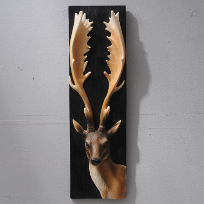 American deer head animal head wall hanging creative retro three-dimensional porch hanging Arts Crafts wall sculpture decorationAmerican deer head animal head wall hanging creative retro three-dimensional porch hanging Arts Crafts wall sculpture decoration